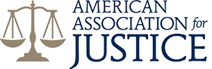 Logo Recognizing Johnson & Gilbert, P. A.'s affiliation with the American Association for Justice
